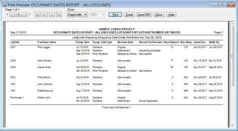 occupancy report template h o m e s sle report occupancy dates