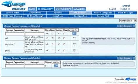 Url Pattern | barracuda web filter 1010 barraguard com