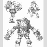 Bioshock Big Daddy Concept Art | 680 x 800 jpeg 94kB