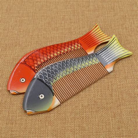 Handmade Wooden Combs - handmade wooden fish hair comb tooth traditional ebay