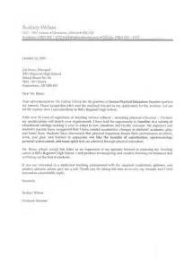 Cover Letters For Principal by Exle Cover Letter For Principals