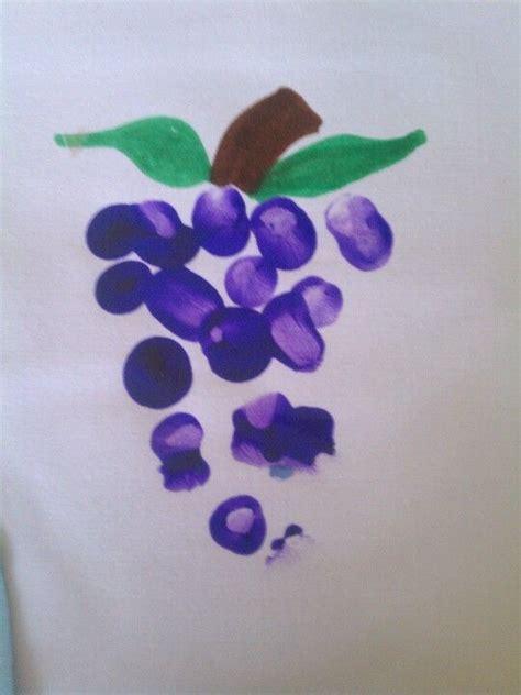 fingerprint crafts for fingerprint grapes for summer theme alphabet crafts