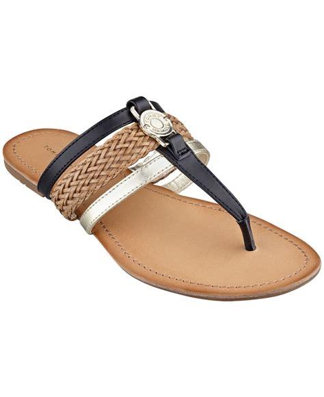 hilfiger sandals hilfiger s liz sandals in black lyst