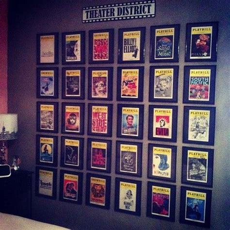 broadway themed bedroom best 25 playbill display ideas on pinterest concert