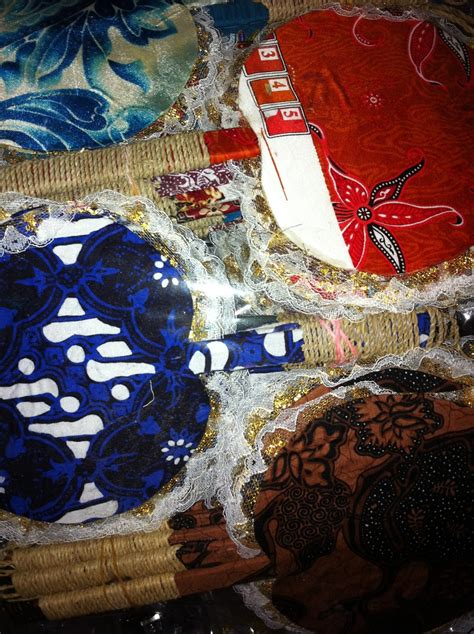 Souvenir Kipas Batik Renda jual souvenir pernikahan murah unik grosir di jakarta