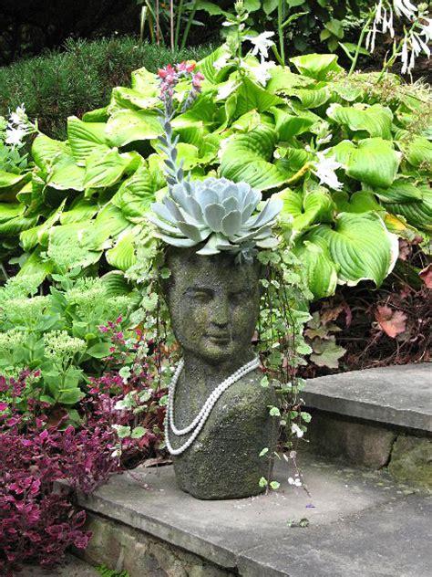 face planters inspire bohemia stoneface creations stone head garden