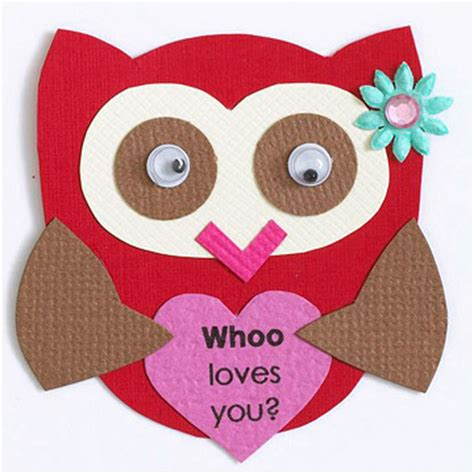 owl valentines day card template paper piecing patterns scrapbooks etc the knownledge