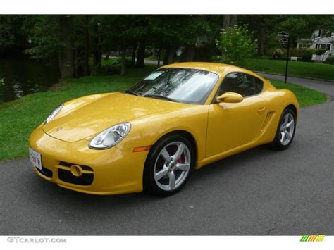 porsche cayman yellow 2007 speed yellow porsche cayman s 11715289 gtcarlot