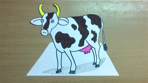 Pongal Cow Drawing how to draw a cow