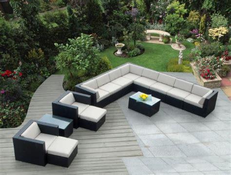 ohana 14 piece outdoor wicker patio furniture sectional