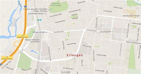 map of erlangen germany erlangen world easy guides