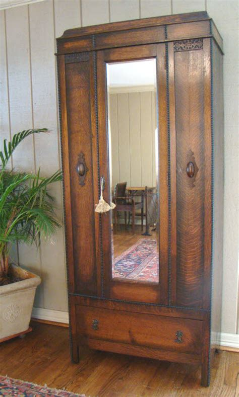 armoire english antique english wardrobe armoire mirror handsome oak for sale antiques com classifieds