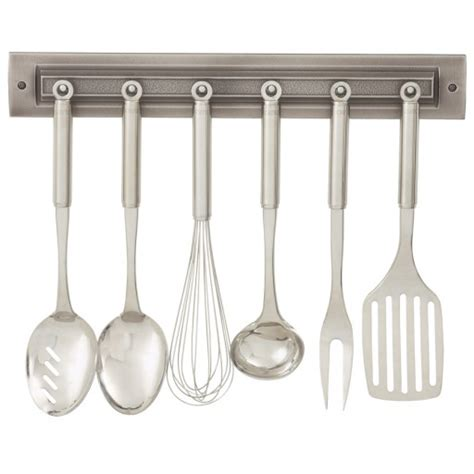 Utensil Rack by Brushed Nickel Utensil Rack Upscale Kitchenware Rq Home