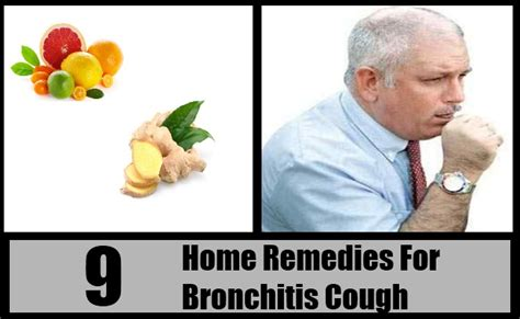 9 home remedy for bronchitis cough treatments