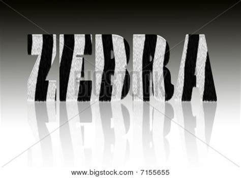 Zebra Pattern Words   zebra word pattern image photo bigstock