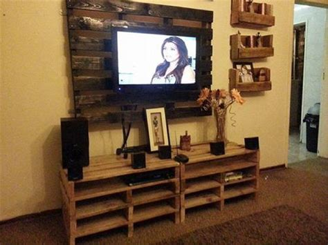 Ideas For Tv Cabinets by Tv Stands From Wooden Pallet Recycled Things