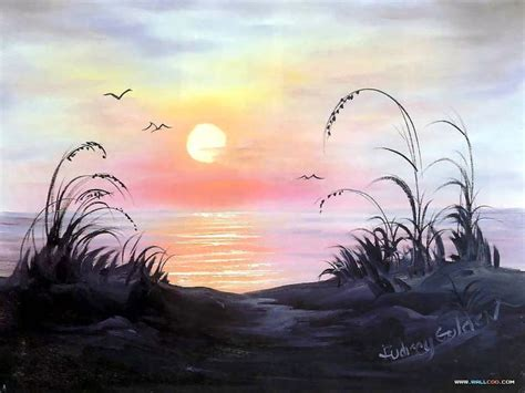 bob ross paintings sunset bob ross s lanscape painting wallpapers
