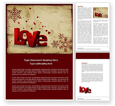 holiday templates for word free free christmas love word template 04198 poweredtemplate com