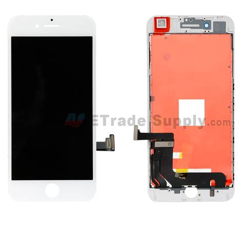 apple iphone 8 plus lcd screen and digitizer assembly with frame white grade s etrade supply