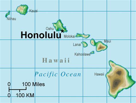 map of hawaiian islands and usa hawaii map area tourism