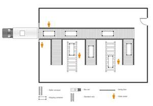 Design A Warehouse Floor Plan by Plant Layout Plans Solution Conceptdraw Com