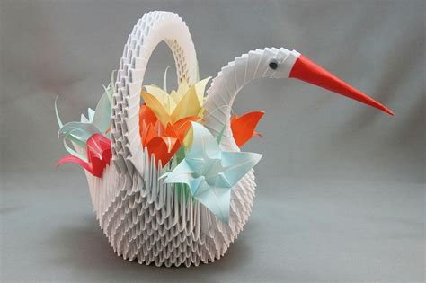 Japanese Origami Swan - 1000 ideas about origami swan on 3d origami