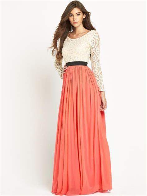 Rara Maxy lace top sleeve maxi dress co uk
