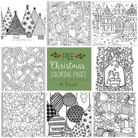 printable christmas adult coloring pages free christmas adult coloring pages u create