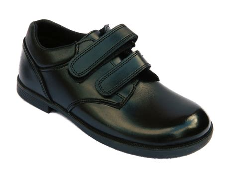 boys black school shoes leather formal kid size 9 10 12 13