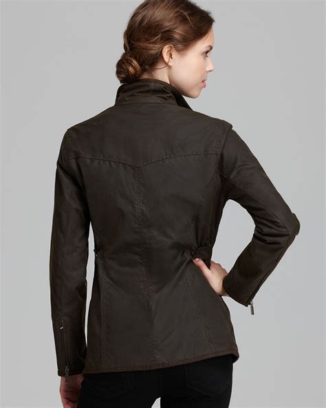 womens barbour waxed cotton utility jacket barbour barbour jacket utility lightweight waxed cotton in brown