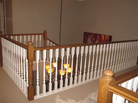 painting banisters ideas painting a stairway railing black busy painting out oak stair railing lots of work