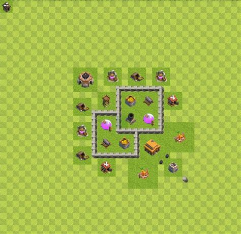 clash of clans layout strategy level 3 war map layouts clash of clans