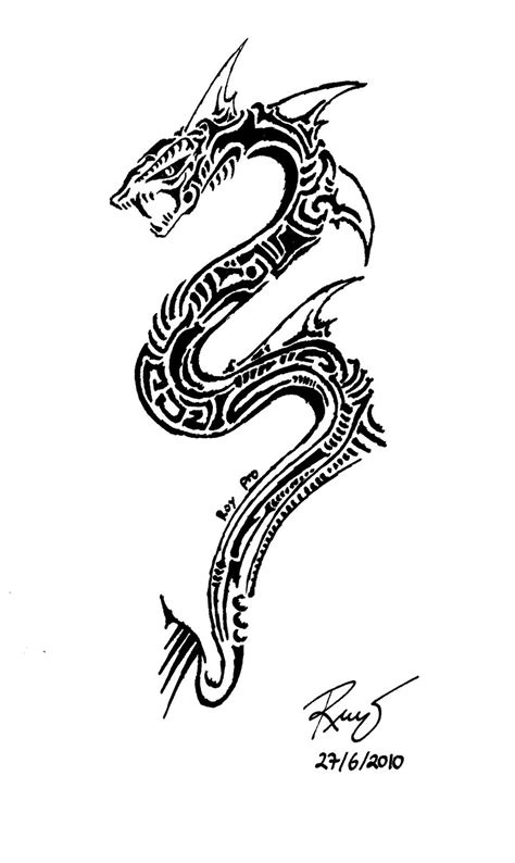 snake tribal tattoos tribal snake 3 by roycorleone d2tge0m snake design