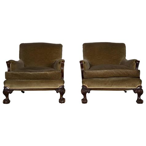 country armchairs large pair of 19th century country house armchairs for