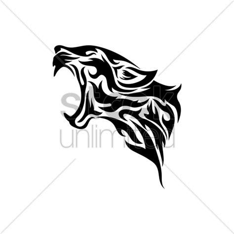 tribal leopard design leopard tribal vector image 1480238 stockunlimited