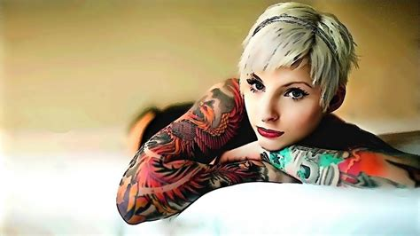 babes with tattoos 40 beautiful and wallpaper free to