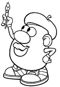 mr potato coloring page mr potato coloring pages coloringpagesabc