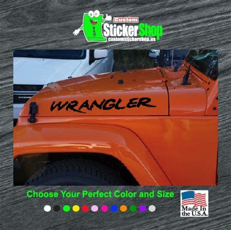 jeep wrangler sticker jeep wrangler custom set decal sticker