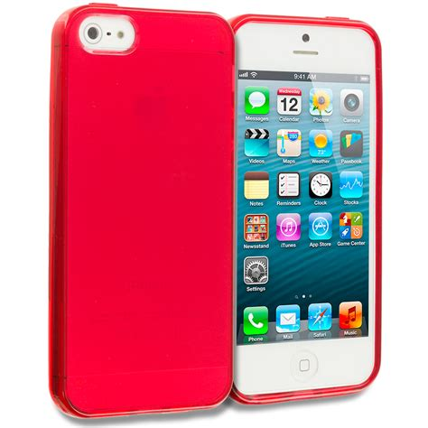 Softcase Iphone 5g 5s tpu rubber jelly soft skin cover for iphone 5 5s 5th ebay