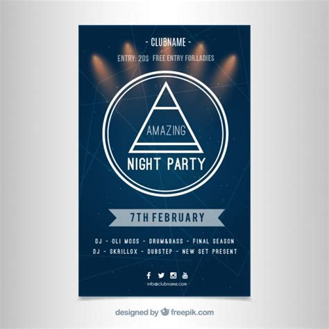 modern party poster template vector free download