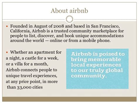 what is airbnb airbnb presentation