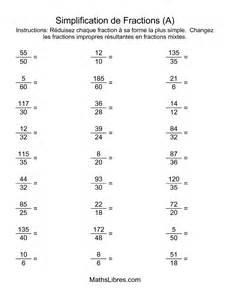 simplification de fractions impropres a
