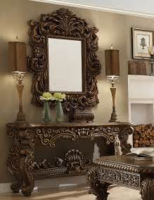 Sofa Table With Mirror Vienna Mansion Console Table Amp Mirror Homey Design Hd 8011