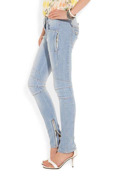low cut motocross balmain motocross style low rise skinny jeans net a