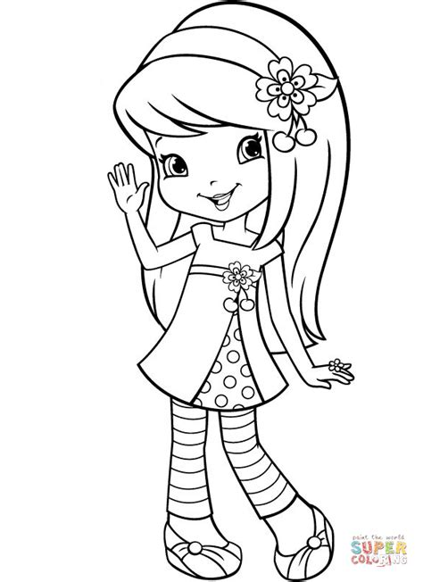 Cherry Jam Strawberry Shortcake Coloring Pages