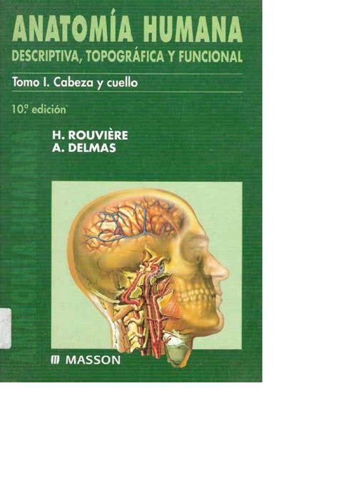 libro anatoma para posturas de anatomia humana cabeza y cuello rouviere