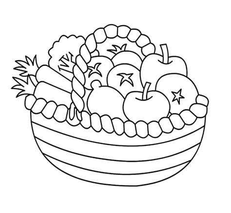 fruit basket coloring page az coloring pages