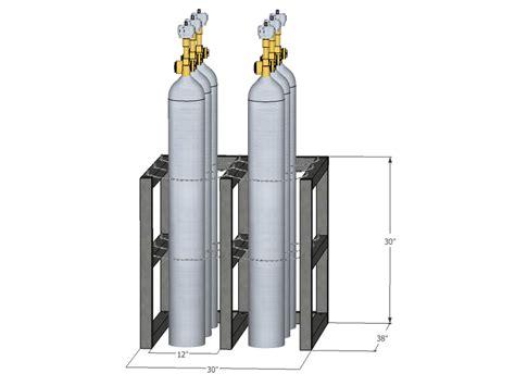 Gas Cylinder Rack by Gas Cylinder Rack Barricade 6 Tanks 2x3 Br2x3fs Usasafety