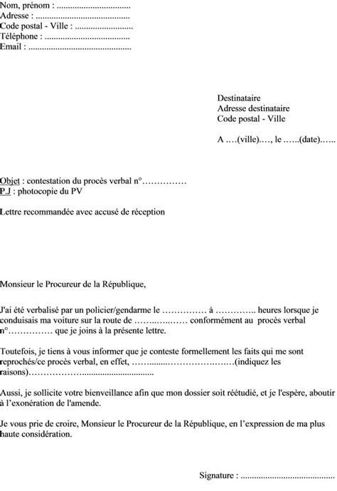 Lettre De Contestation Visa modele lettre contestation administrative