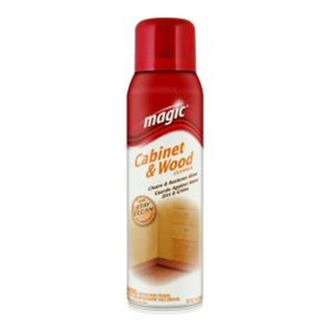 Cabinet Cleaner by Magic 17 Oz Cabinet And Wood Aerosol Cleaner With Stay